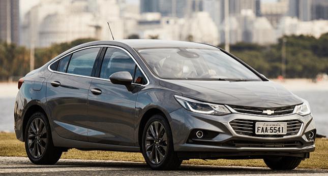 Chevrolet Cruze Sedan 2018 – Especificações, Ficha Técnica